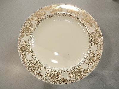 4  RARE Royal China - BRIDAL GOLD -  USA! BREAD DESSERT PLATE  22 KT 1930-40'S