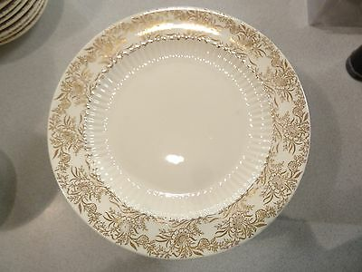 4  RARE Royal China - BRIDAL GOLD -  USA!  LUNCHEON PLATE  22 KT 1930-40'S