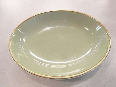 """Taylor Smith  & Taylor Classic Heritage Celadon Green Oval 9 1/2"""" Serving Bowl"""
