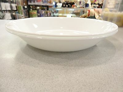 Lot of  2 Corning Ware Corelle Winter Frost White PASTA BOWLS