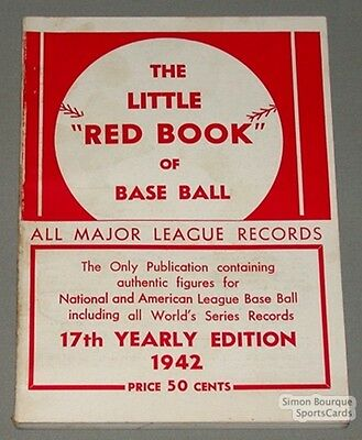 Rare 1942 Baseball Spalding's The Little Red Book
