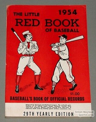 Rare 1954 Baseball Spalding's The Little Red Book