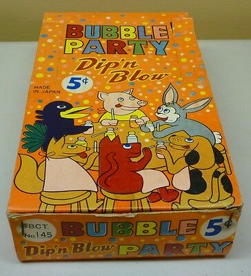 Vintage 1960's Candy Bubble Party Dip'n Blow Box Display