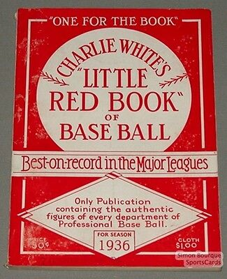 Rare 1936 Baseball Spalding's The Little Red Book