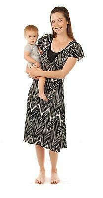 Amamante Chevron Print Nursing Dress Size Large