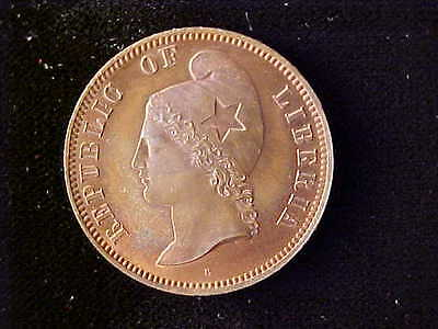 Liberia Pattern One Cent 1890E Red & Brown Proof
