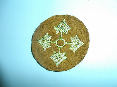 b8818 US Army 1930's-WW2 4th Infantry Division Ivy patch OD wool round PA14