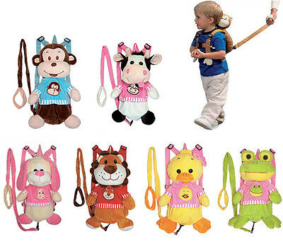 Animal Zoo Farm Travel Plush Toy Backpack Safety Harness Baby Toddler bag wLeash