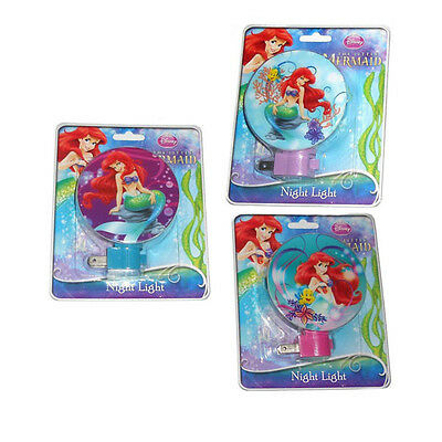 Disney Princess Ariel Little Mermaid Nursery Hallway Room Bath Night Light Lamp