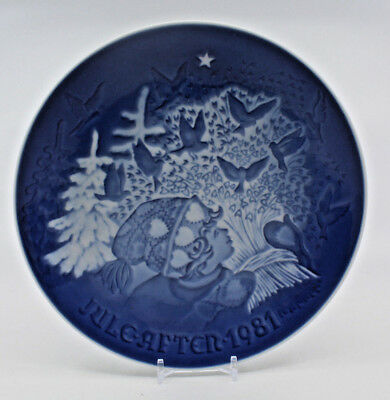 1981 Bing and Grondahl 1981 Christmas Plate 9081 B&G Made in Denmark