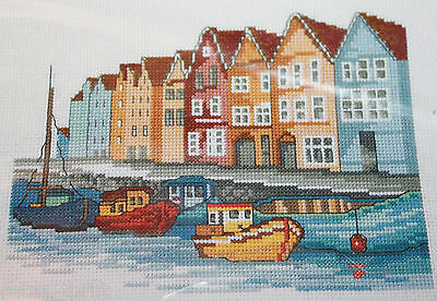 "Permin of Copenhagen 92-1169 Waterfront Cross Stitch USED Pattern Only 11""x8"""