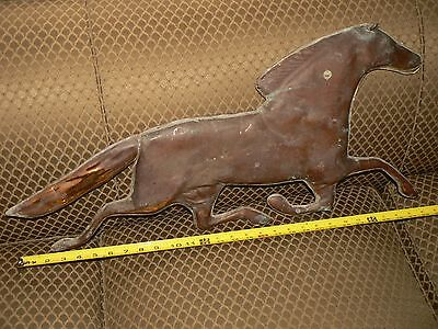 Vintage Weathervane Horse Hollow Copper