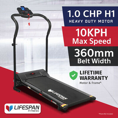 Lifespan COMPACT Treadmill New 360mm Wide Belt Electric Home Easy Assembly