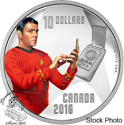 Canada 2016 $10 Star Trek Crew Scotty 1/2 Ounce Silver Coin