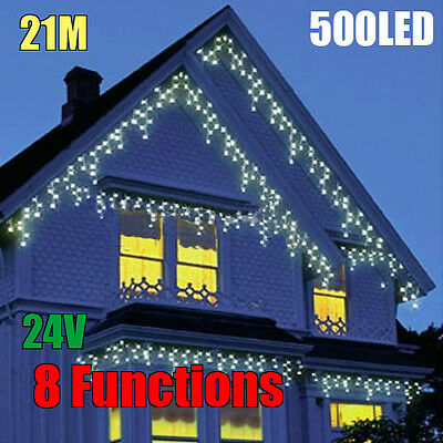 21M 500 LED Fairy Lights Strand Ideal for Wedding Xmas Party Decoration White