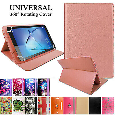"Universal Leather Wallet Flip Smart Case Cover For 7"" 8"" 9"" 10.1"" Android Tablet"