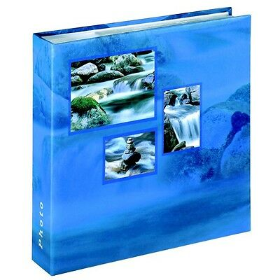 Hama Singo Memo Photo Album 200 6 x 4 Pictures 100 Slip In Pages Blue Aqua 10x15