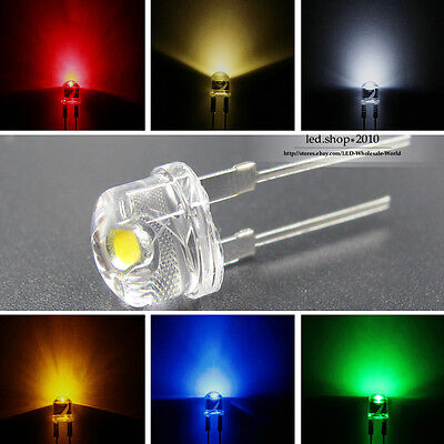 8mm Straw hat 0.5W Super bright 6 Colors Light-emitting Diodes Lamp to DIY LEDs