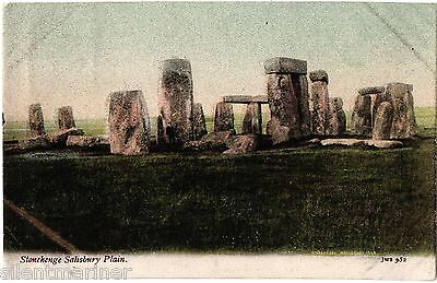 Stonehenge, old coloured J. Welch & Sons postcard, posted 1906