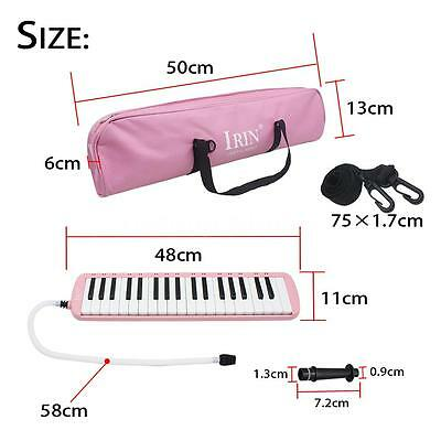 Pink 37 Piano Keys Melodica Pianica w/Carrying Bag For Students New C8J8