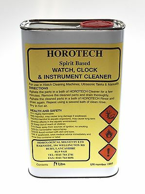 HOROTECH Spirit Based WATCH and INSTRUMENT CLEANING FLUID 1LTR