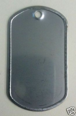 300 Shiny  Bright Stainless Steel Military GI Dog Tags Rolled edge