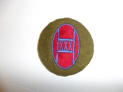 b8821 US Army 1930's-WW2 30th Infantry Division patch OD wool Old Hickory PA14