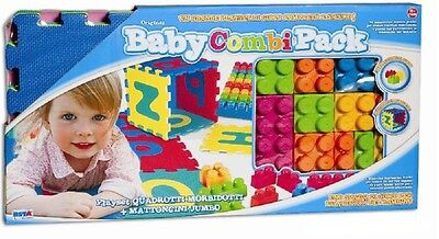 Giochi per bambini playset baby pack tappeto puzzle + mattoncini jumbo PS 00182
