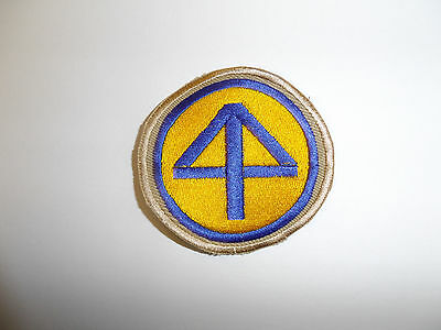 b8829 US Army 1930's 44th Infantry Division patch Khaki mchn emb variation