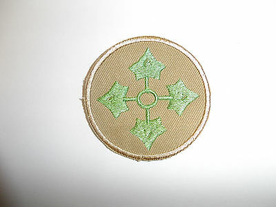 b8837 US Army 1930's-WW 2 4th Infantry Division patch Khaki Ivy PA14
