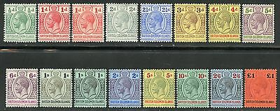 Solomon Islands   Scott#28/41, Gibbons#22/38  Mint Hinged Original Gum