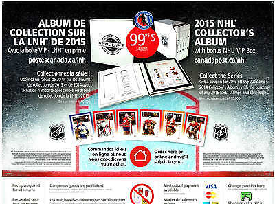 "2015 Canada Post NHL Goalies Store Counter Display , 12""x14 1/2"", Dryden, etc..."