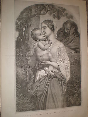 A Holy Family by Paul Delaroche 1848 old print