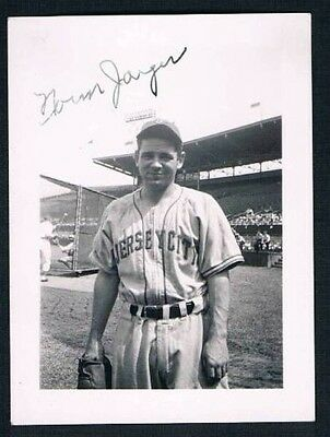Original 1946 Jersey City Norman Jaeger Signed Photo