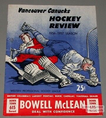 Original 1956-57  WHL Vancouver Canucks Yearbook