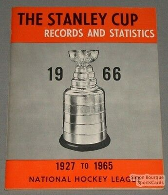 Original 1927-65 The Stanley Cup Records & Stats. Book