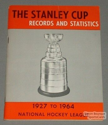 Original 1927-64 The Stanley Cup Records & Stats. Book