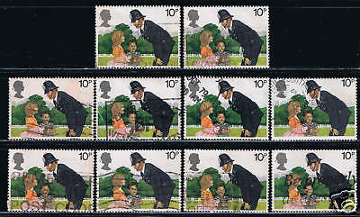 Great Britain #875(1) 1979 10 pence Police Constable & Children 10 Used