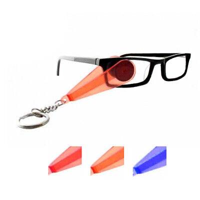 3-Pack: Mini Swiper Eyeglass Cleaner Keychain-in 3 Colors