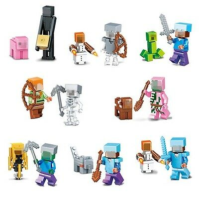 Set Minecraft Series Mini figures Fits with Lego Minifigures