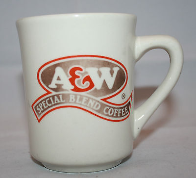 Vintage A&W Special Blend Coffee White China Mug Cup Faded Tea English & French