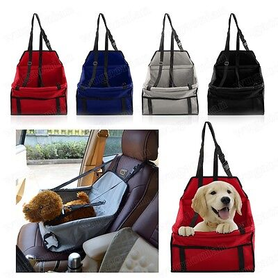 Folding Dog Travel Safety Belt Cat Puppy Pet Car Seat Protect Cover Booster Bag
