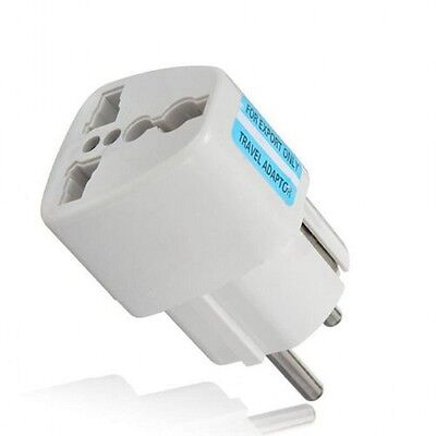 Universal AC Power Plug Adapter Konverter US AU UK GER ZA  to EU Europe Travel