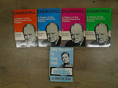 5 MIXED WINSTON CHURCHILL BOOKS by VARIOUS P/B **£3.25 UK POST**MIXED PUBLISHERS