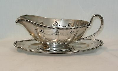 Oneida Community Silver GROSVENOR Gravy Boat and Tray Underplate