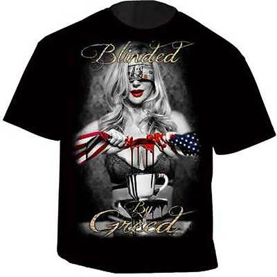 Gda Get Down Art Blinded By Greed Money Freedom America Usa T Tee Shirt Dba30