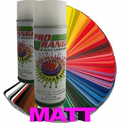 Matt Spray Paint British Standard/RAL Colours Aerosol High Quality 400ml Can