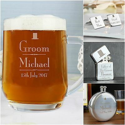 Personalised Decorative Wedding Gifts For Groom Best Man Usher Male Guests