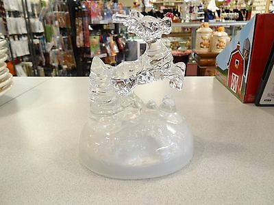 Cristal D'arques Music Box Rudolph The Red Nosed Reindeer Figurine