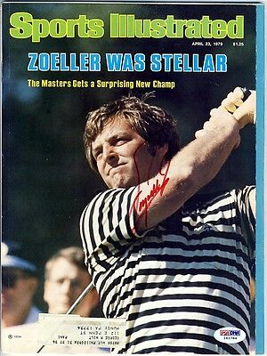 Fuzzy Zoeller Signed Autographed Golf Sports Illustrated Magazine Psa/dna I61784